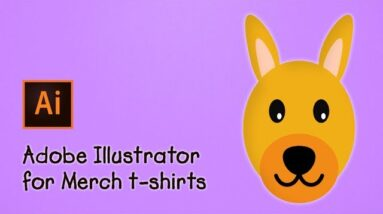 Illustrator for Merch by Amazon – A Cartoon of a Dog's Face for a T-Shirt Design