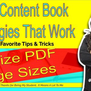 Resizing PDF Page Sizes for Low Content Books - Neat Tricks for Low Content Book Authors