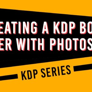 How to create a KDP book cover using Photoshop
