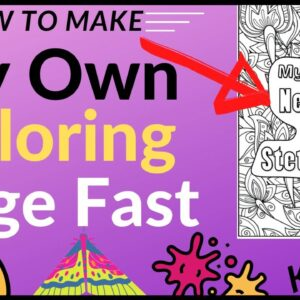 How to Create My Own Coloring Page Fast - KDP Low Content Publishing