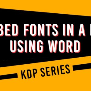 How to Embed Fonts in a PDF from Word