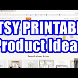 How To Find Etsy Product Ideas - Sell Printables Online