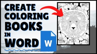 How to Make a Coloring Book in Word | Tutorial