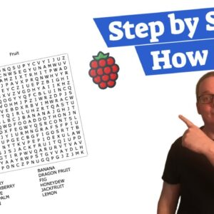 How To Make A Word Search Book | EASY PEASY