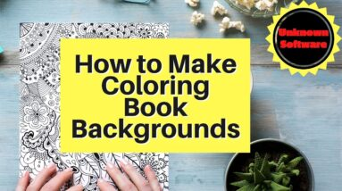 How to Make Coloring Book Backgrounds - Unique Software
