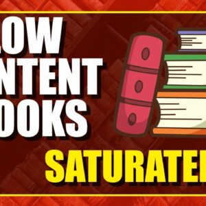 Is Selling Low Content Books Saturated?