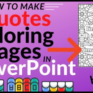 How to Make a Quotes Coloring Page in PowerPoint - KDP Low Content Coloring Books
