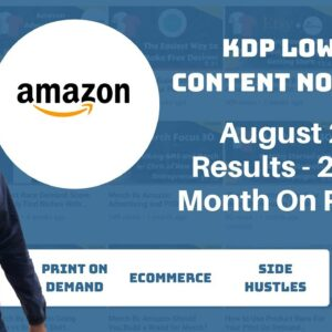 Kindle Direct Publishing August 2019 Results with Low and No Content Books