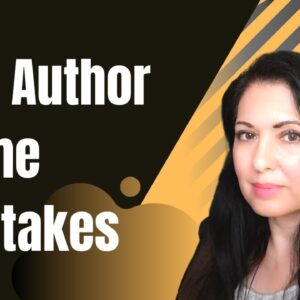 Low Content Book Author Name Mistakes - What to avoid