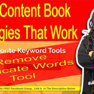 Remove Duplicate Words Tool- Keyword Research Tools for Low Content Books