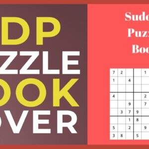 How to Use Canva to Create Puzzle Book Cover for KDP [Low Content Publishing]