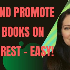Marketing your Books on Pinterest - How to pin your low content books to Pinterest easily