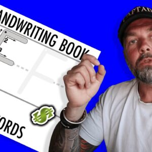 Awesome KDP Activity Book Niche - Handwriting Practice Low Content Books to Make Money at Home