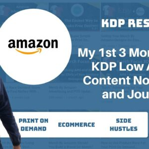 Results from My First 3 Months On KDP with Low Content Books - Print On Demand