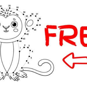 Make Money With Low Content KDP Activity Books [FREE DOT to DOT] Kids and Cartoon Animal Images