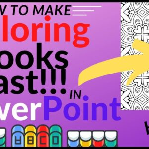 How to Create Coloring Books Fast in PowerPoint - KDP Low Content Publishing