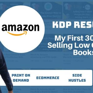 Results from My First 30 Days On KDP with Low Content Books - Print On Demand