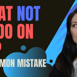 What not to do on KDP - Common mistake people make